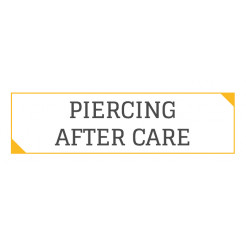 PIERCING AFTER CARE