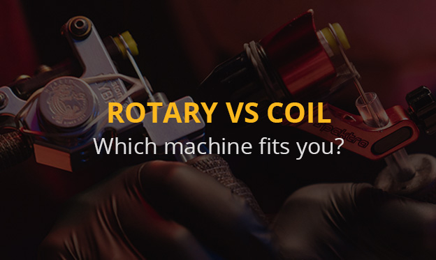 Rotary and coil machines in comparison: Find a tattoo machine that is suitable for your needs!