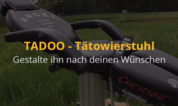 TADOO - Tätowierstuhl – Gestalte ihn nach deinen Wünschen und mach ein Unikat daraus!