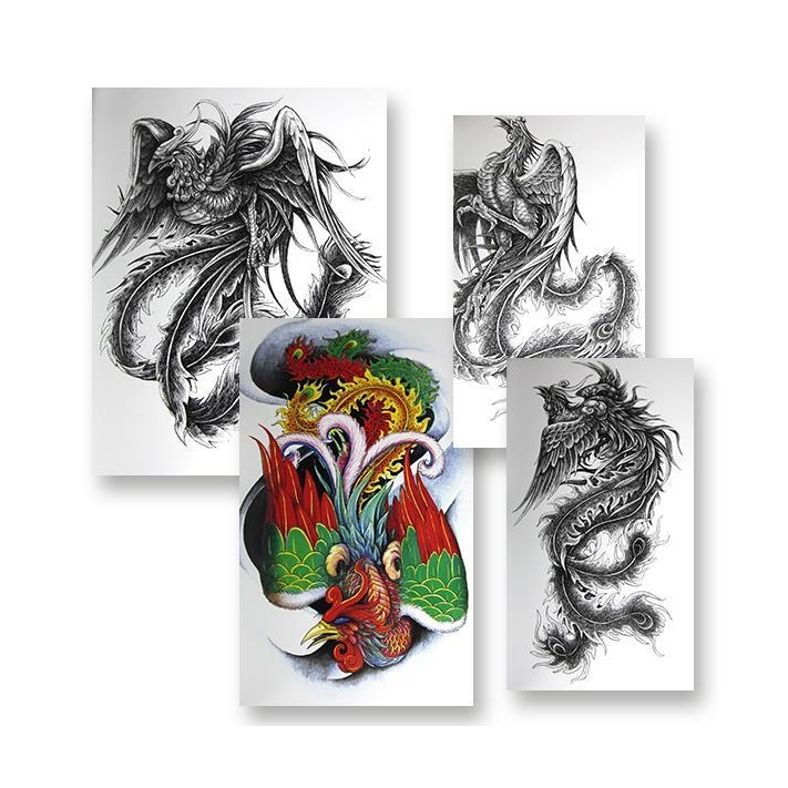 Dragon and phoenix 32 50 for Tattoo supply phoenix
