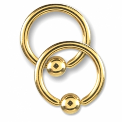 BCR - Gold Line 316 L gold plated - 1 µm - 4 mm ball