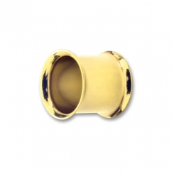 Double Flared Tunnel - PVD Gold - 10 mm