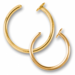 Open nosering  - Gold Line 316 L gold plated -1 mm x 7 mm