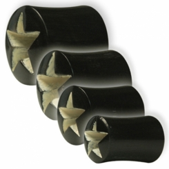 Tunnel - Buffalo Horn - Hollow Star - 6 mm