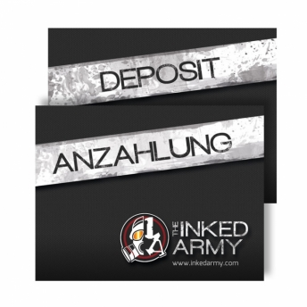 THE INKED ARMY - Deposit booklet - Tattoo or Piercing studio