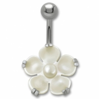 Flower pearl-white