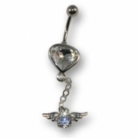 Heart with Pendant - white