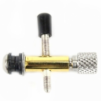 Stainless steel gold-plated - with silver contact screw