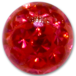 Swarovski Crystal ball - 1,6 mm x 4 mm - LSI red - 5...