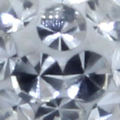 Swarovski Crystal spike - 1,6 mm x 5 mm x 6 mm - CZ white...