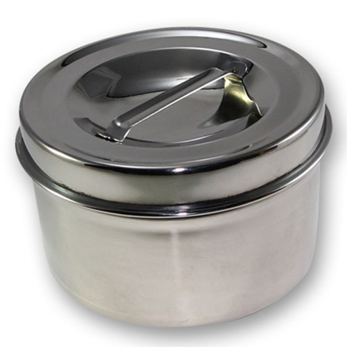 Stainless steel container with lid