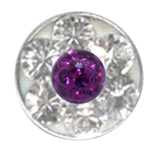 Push-fit disc for bioplast studs - With Swarovski Crystal - 4,3 mm