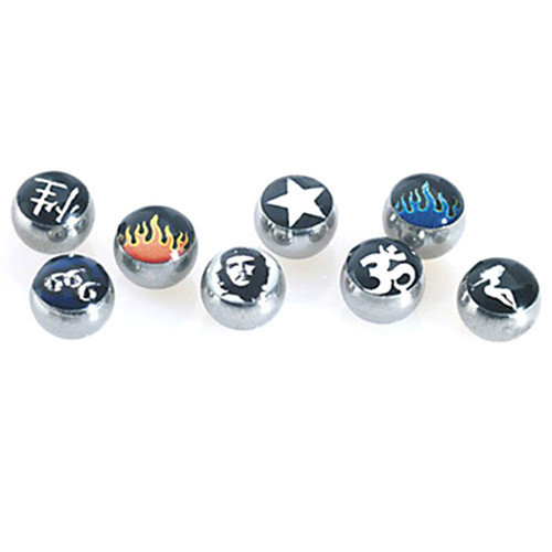 Picture balls - 316 L stainless steel - colored
