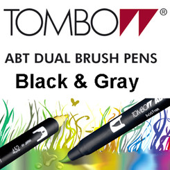 TOMBOW - Black & Gray - ABT Dual Brush Pen