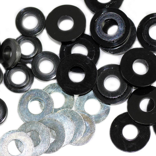 Flat washers and insulating washers
