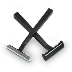 Disposable razors  - Black - 1 Blade - 100 pc/pack