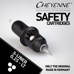 CHEYENNE - Safety Cartridges - 3 Liner - 0,25 - LT