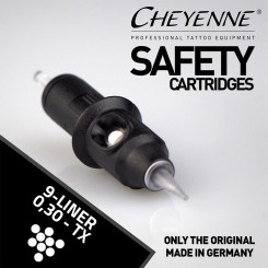 CHEYENNE - Safety Cartridges - 9 Liner Bugpin - 0,30