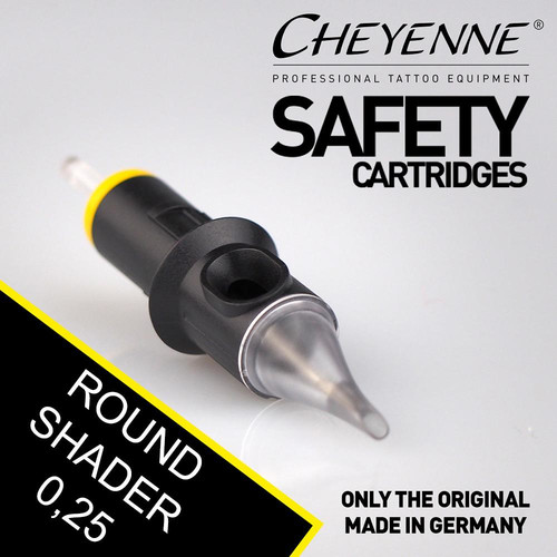 CHEYENNE - Safety Cartridges - Round Shader - 0,25