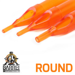 Barrel Plastic Disposable Tips | Round 5