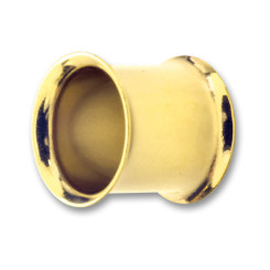 Double Flared Tunnel - PVD Gold 316 L - 8 mm Innenlänge -...
