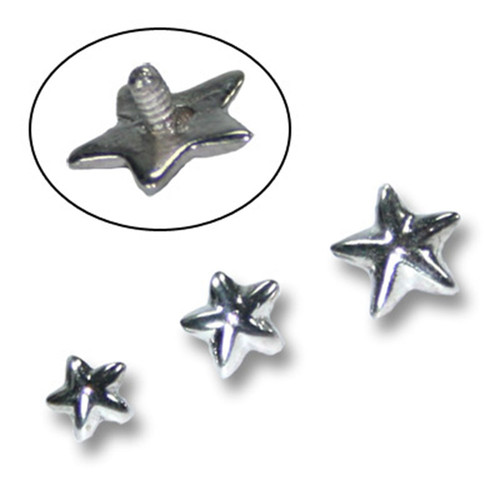 Skinplate attachment - silver - star