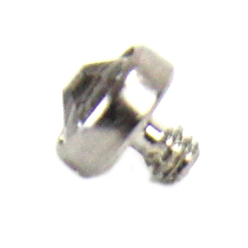 Skinplate attachment - Titan - 1,2 mm x 3 mm with crystal CZ white
