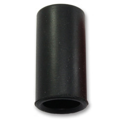Grip cover - Silicone - Black - Smooth - Ø 25 mm