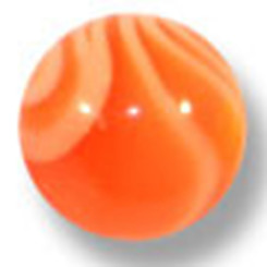 UV Gewindekugel - Marmoriert Orange 1,6 mm x 5 mm - 10...