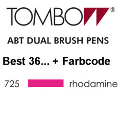 TOMBOW - ABT Dual Brush Pen - Dermatest - Rhodamine Red