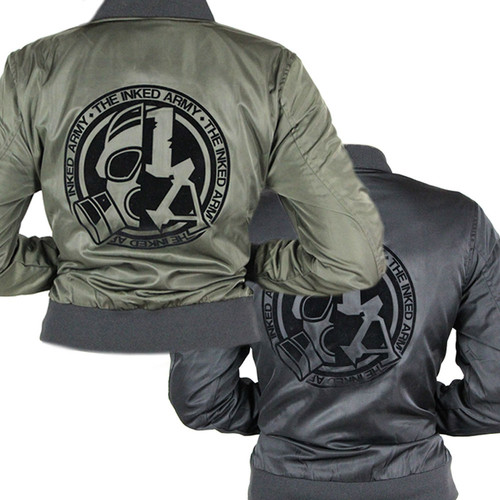 The Inked Army - Ladies - Nylon Twill Bomber Jacket