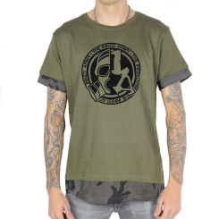 The Inked Army - Gents - Long Shaped Camo Inset Tee -...