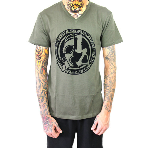 The Inked Army - Gents - T-Shirt V-Neck - Olive