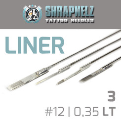 THE INKED ARMY - Shrapnelz Tattoo Nadeln - 3 Liner - 0,35...