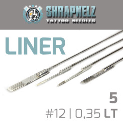 THE INKED ARMY - Shrapnelz Tattoo Nadeln - 5 Liner - 0,35...