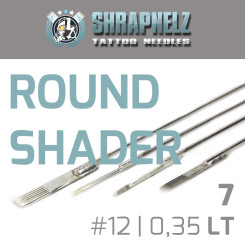 THE INKED ARMY - Shrapnelz Tattoo Nadeln - 7 Round Shader...