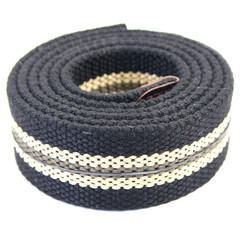 The Inked Army - Canvas belt - Black striped