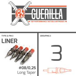 THE INKED ARMY - Guerilla Tattoo Cartridges - 3 Liner -...