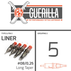THE INKED ARMY - Guerilla Tattoo Cartridges - 5 Liner -...