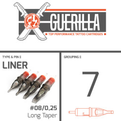 THE INKED ARMY - Guerilla Tattoo Nadelmodule - 7 Liner -...