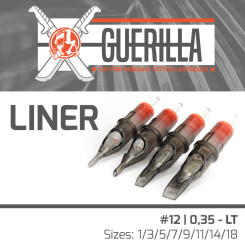 The Inked Army - Guerilla Cartridges - Liner - #12 / 0,35 LT