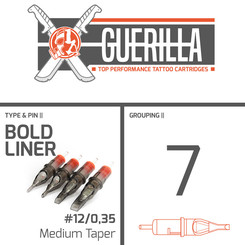 THE INKED ARMY - Guerilla Tattoo Cartridges - 7 Bold...