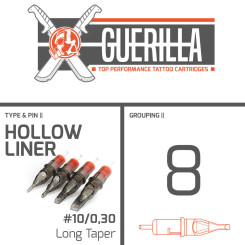 THE INKED ARMY - Guerilla Tattoo Nadelmodule - 8 Hollow...