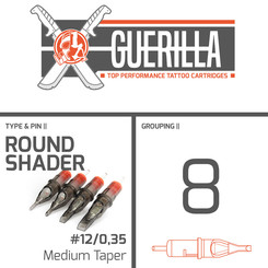 THE INKED ARMY - Guerilla Tattoo Cartridges - 8 Round...