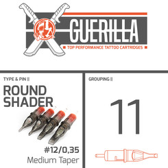 THE INKED ARMY - Guerilla Tattoo Cartridges - 11 Round...