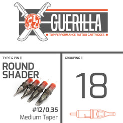 THE INKED ARMY - Guerilla Tattoo Cartridges - 18 Round...