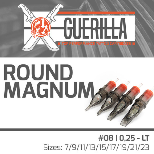 THE INKED ARMY - Guerilla Tattoo Cartridges - Round Magnum -  0,25 LT