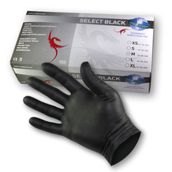 SELECT BLACK - Latex - Examination gloves - Black M