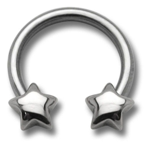 Circularbarbell 316 L stainless steel - Star