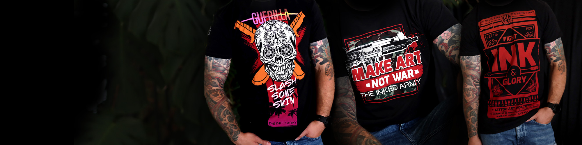 NEW THE INKED ARMY T-SHIRTS